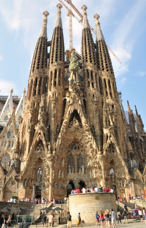 barcelona cathedral: Sagrada Familia - the impressive cathedral designed by architect Gaudi  Barcelona