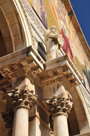 Church, Basilica of the Agony  Gethsemane garden  Jerusalem  photo