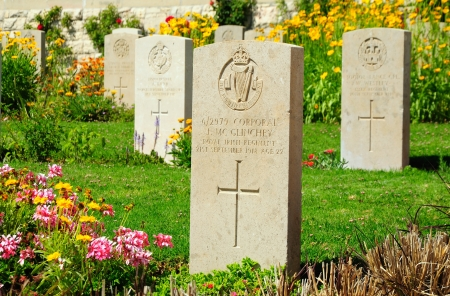 Military British cemetery for the soldiers killed in Palestina  Jerusalem  Israel Editorial