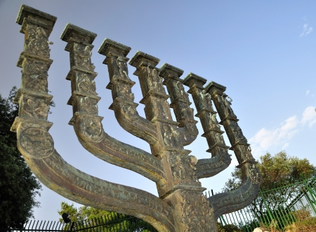 knesset: Big menora of Jerusalem situated near the Knesset   Israeli parliament