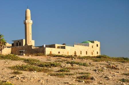 holyland: Old mosque at Herzlia seashore  Central Israel