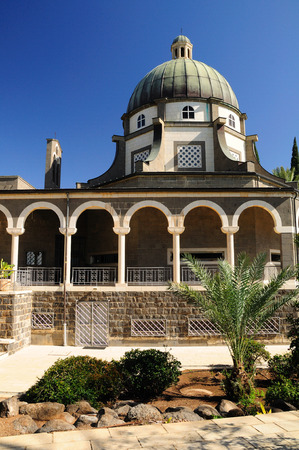 holyland: Church of beatitudes on the mount of beatitudes  Northern Israel