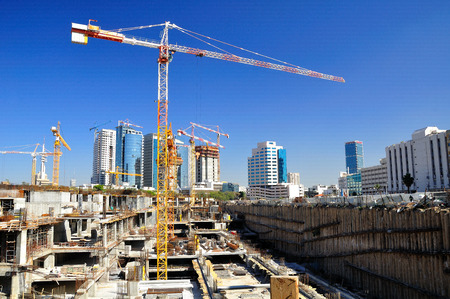 zionism: New construction site in the center of Tel Aviv