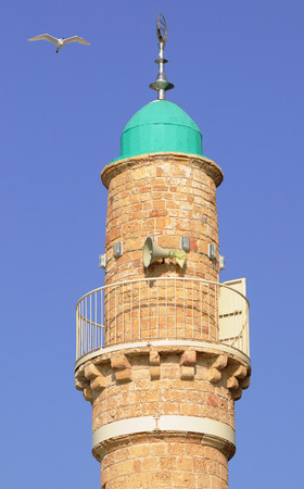 holyland: Minaret of the mosque in old Jaffa   Israel   Stock Photo