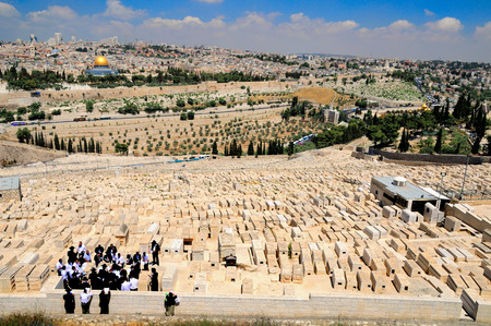 Jerusalem landscape with the jewish cemetery at the foreground