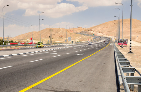 View to israeli highway number one to the direction of the dead sea   photo