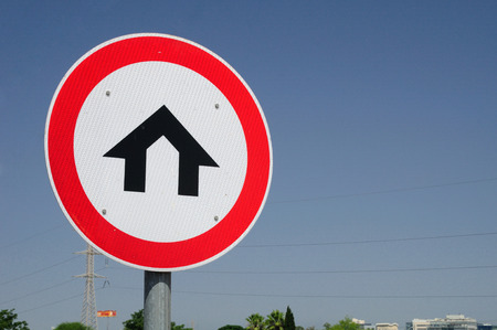 prohibitive: Israeli traffic sign of living zone prohibiting high speed driving