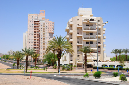 zionism: Modern living houses in Eilat city  South Israel