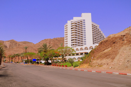 zionism: One of Eilat hotels near Egypt border  South Israel  Editorial