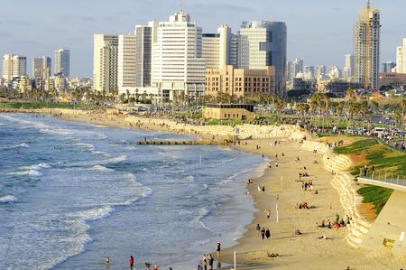 Tel Aviv seashore as seen from Old Jaffa  Israel  photo