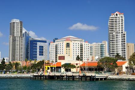 View to San Diego coast line. California. USA.