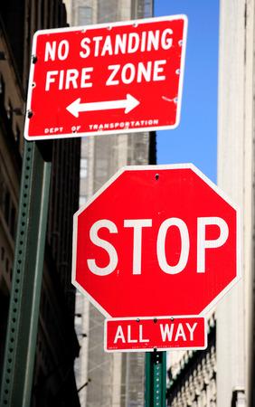 Prohibitory stop traffic sign.