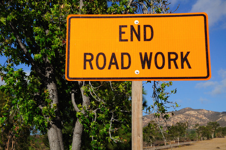 Warning signboard at the roadside.  Nevada. USA. photo