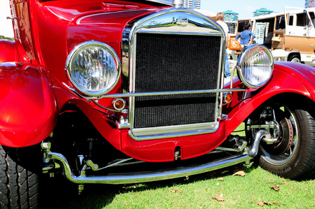well maintained: Exhibition of old, retro collector cars which are well maintained and hold in working conditions by the owners. San Diego. USA. September 2014. Editorial