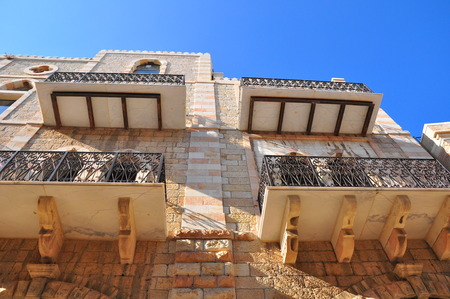 holyland: Old, orient styled building in Jerusalem.
