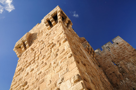 holyland: Jerusalem old city. KIng David citadel.
