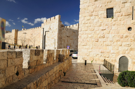 holyland: Jaffa gate of Jerusalem old city.