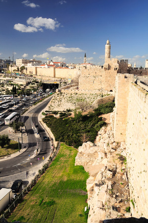 Jerusalem landscape as seen from Old City wall.