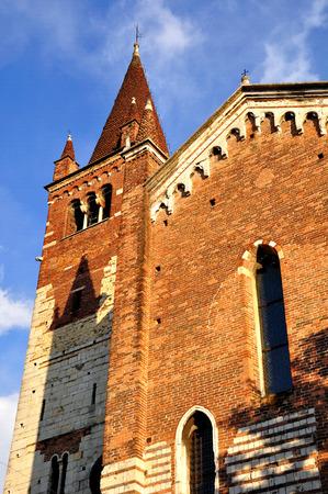 Chiesa di SantElena - one of Verona city cathedrals. Italy. Stock Photo