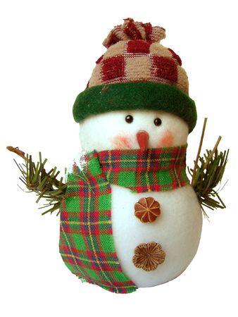 White Snowman on white background Stock Photo - 602329