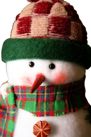 White snowman close-up Stock Photo - 602330