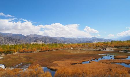 Beautiful winter season in Leh Ladakh, India Stock Photo
