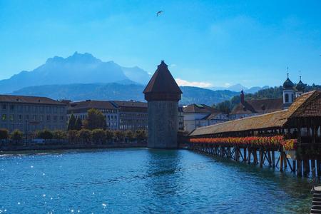 Beautiful chapel bridge in Switzerland