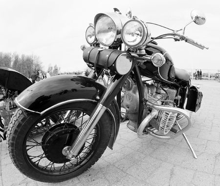 old motorcycle: Old moto