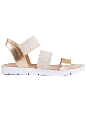 opentoe: Woman sandals isolated on the white background