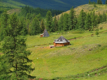 dwelling: National dwelling of altaians, mountain Altai