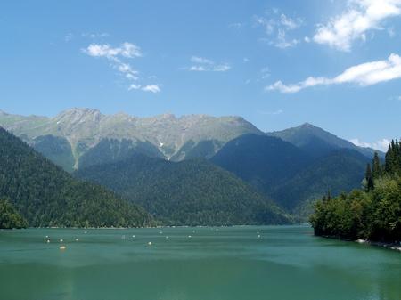 subtropics: Lago Ritsa in Abkhazia