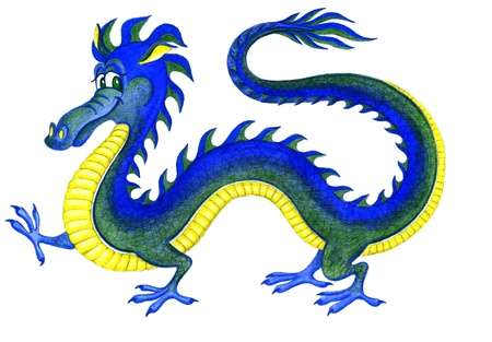 Cheerful water dragon - a symbol of 2012 Stock Photo - 9362989
