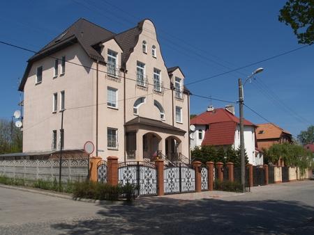 �lite: Kaliningrad, Russia. Edificio Elite nel Turgeneva strada.