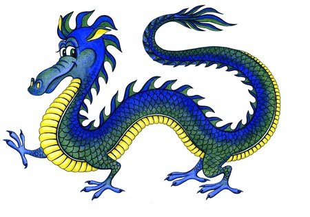 Cheerful water dragon - a symbol of 2012 photo