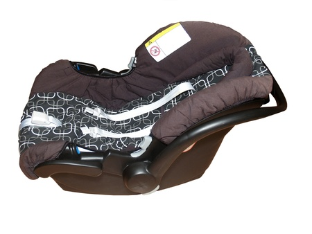 Childrens car seat on a white background photo