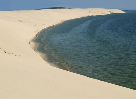 Sandy dunes of the Kurshsky plait, Russia photo