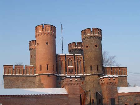 serf: Kaliningrad, Fridrihsburgsky porte dans le matin d'hiver Banque d'images