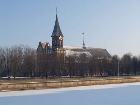 Kaliningrad  A cathedral in the winter photo