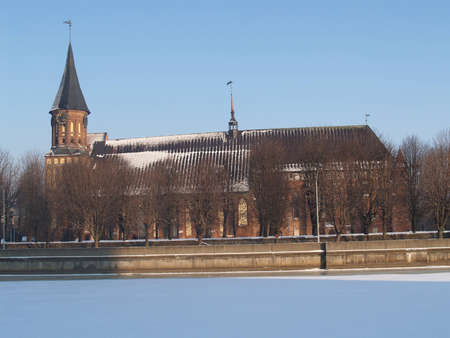Kaliningrad  A cathedral in the winter Stock Photo - 12555467