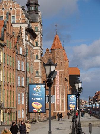 advertizing: European championship advertizing on football  EURO-2012 in Gdansk, Poland