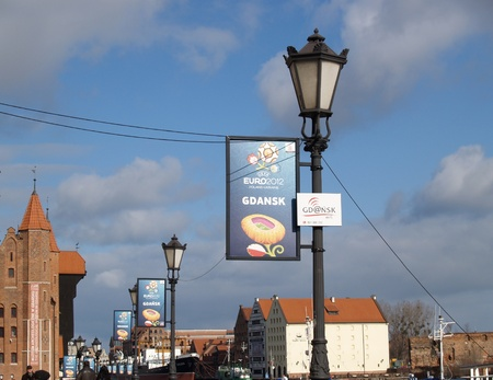 European championship advertizing on football  EURO-2012 in Gdansk, Poland