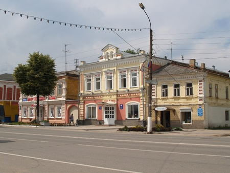 Lenin Street in the city of Bogorodsk of the Nizhny Novgorod Region, Russia
