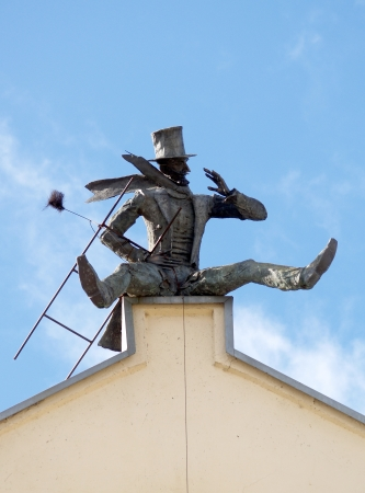 Monument to the chimney sweep in Klaipeda, Lithuania