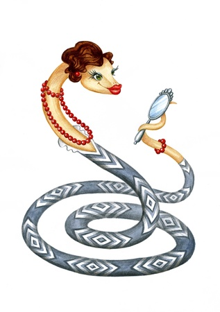 Snake - a symbol of 2013 Stock Photo - 15867478