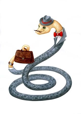 Snake - a symbol of 2013 Stock Photo - 15867479