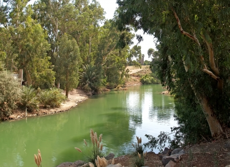 galilee: Israel  The river Jordan - a place of a baptism of Jesus Christ