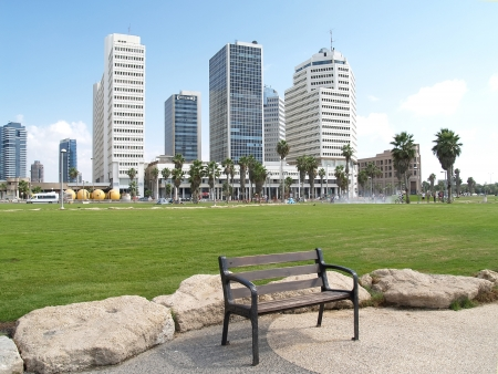Israel  High-rise buildings on the embankment of Tel Aviv