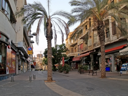 Israel  Early morning in the old district of Tel Aviv
