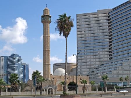 intercontinental: Israel  Mosque Hasan-beat in Tel Aviv Editorial
