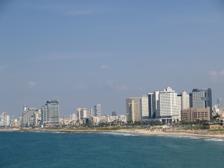 Israel.  View of the Mediterranean Sea and the embankment in Tel Aviv